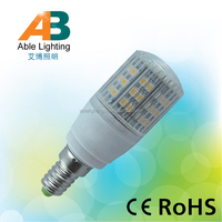 2014 hot sell warm white 3000k ra80 3w corn led e14 bulb 12v