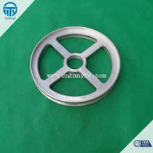 Die casting guide poulie, aluminum pulley, automotive poulie with bearings