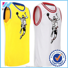 Yihao Custom Made Personal Logo Stitched Basketball Jerseys Gym Wear Workout Clothing 2015