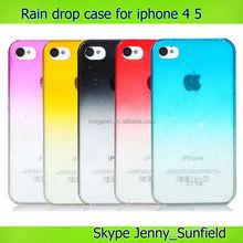 phone case rain drop Ultra thin crystal case for iphone 4 4s, for iphone 4 case pc , for iphone case 4s 5s 6