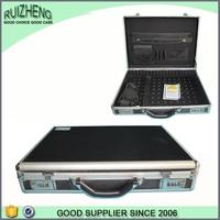 Black Metal Business Salesman Aluminum Laptop Briefcase