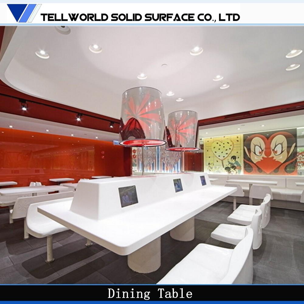 Cheap modern restaurant furniture set long narrow dining