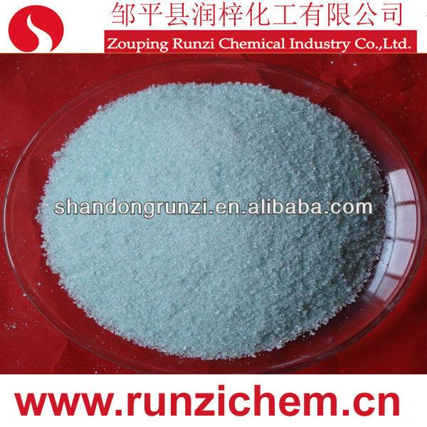 الصيغة الكيميائية لكبريتات الحديدوز