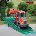 Everun er12 multifuncional mini cargador frontal, articulado mini cargadora de ruedas, radlader