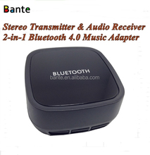 Bluetooth 4.0 Audio Music Transmitter and Receiver 3.5mm Stereo 2-in-1 Bluetooth Adapter