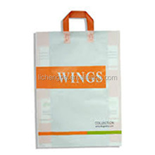 Re-sealable / Permanent Glue Strip plastic carry shopping bag