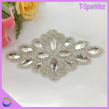 3d crystal applique for fabric garment embellishment