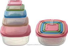 2015 New Product Stackable Bento lunch box/Plastic food storage container/Plastic food Container with airtight lid
