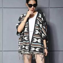 De gama alta moda estilo mujeres / damas de lana poncho wholesale BG151107