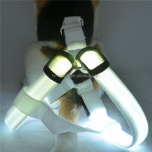 Production wholesale led nylon tow rope Glowing with dog leash