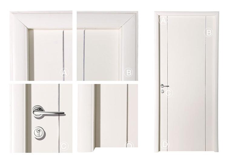 빌라 인테리어 플러시 평면 나무 정문 디자인 흰색 나무 문-문 ...