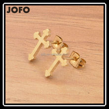 Fashion Wholesales 2015 New Hot Cheap Cross Stud Earrings for Girls Jewelry Accessories
