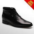 Los hombres botas/para hombre negro hebilla botas de cuero
