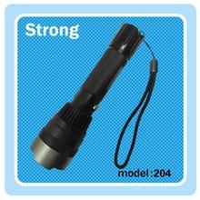 aluminium alloy led torch&flashlight plastic head 3W led flashlight