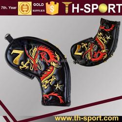 unique drago logo custom iron headcover golf