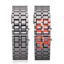 RED LED Watch New Famous cool Fashion Digital WatchesIron Samurai Japanese Inspired