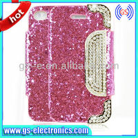 Crystal Diamond Shining Pattern Flip Leather Wallet Case For iPhone 4/4s5/5s