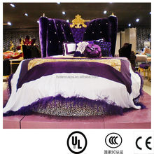 danxueya- 2015 best selling modern round bed for sale/European Classical Fabric King Size Round Bed