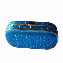 fashion blue-sky evening bags and pu leather evening bag