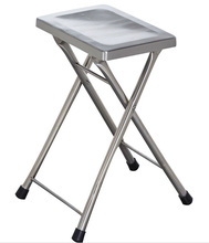 high quality brushed stainless steel morden folding chair for hotels restaurant office home garden LQ-ZD002