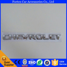 Car ABS Chrome Silver Rear Trunk Emblem For Chevy Sticker Tail Badge