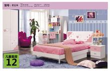 denmark bed mattress princess bedroom set 8124#