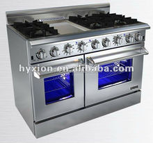 48 inch stainless steel gas range & gas stove & oven