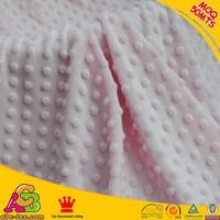 Hot sale 2015 new design 100% polyester super soft Oeko-tex100and SGS minky dot velboa MD201511260008