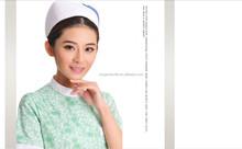 100% algodão tecido Bouffant Cap / chapéu de enfermagem