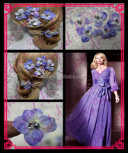 Aidocrystal flower hair accessories purple,hair accesories for wedding,fashion hair clip accessories