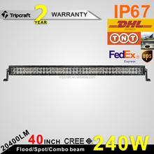 Hot sell high power 4d led light bar 288w 50 inch VS strobe flash car driving lights