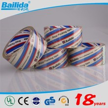 wholesale alibaba china supplier transparent crystal clear bopp adhesive tape with Printing Lables
