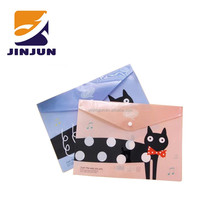 Creative stationery office supplies cartoon adorable plastic A4 paper storage bag file pocket