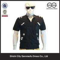 New Fashion Style Linen & Cotton Men T Shirt Design