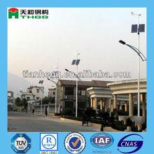 galvanizado energía solar poste de luz al aire libre
