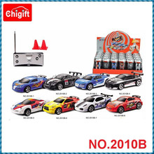2015 new 2010B 1:58 scale radio control car toys with plastic can packing