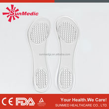 Medical and comfortable soft foot care silicone gel insole or shoe pad