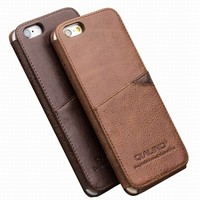 QIALINO Luxury Genuine Leather Case for iphone 6 4.7inch Cover Phone Bags Pouch 2015 New Arrival