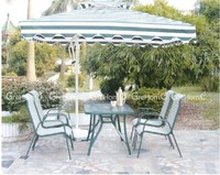outdoor furniture fast food table and chairs with umbrella