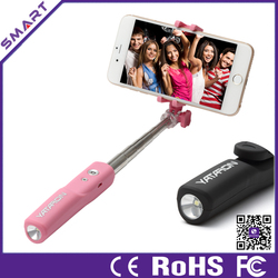 2015 brand new and newest light customize selfie stick for cell phone