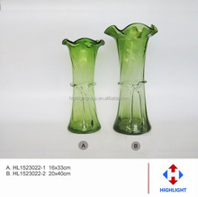 hand blown different types glass vase for home decoration