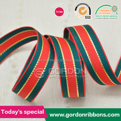 Red and Green Celebrated it Ribbon.Chrismas Grosgrain Ribbon ,Decorating Chrismas Stripe Ribbon