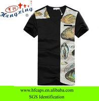 2013 fashion style black 100% cotton cheap promotional t-shirt
