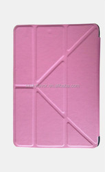 Newest flip book case for iPad 2 leather comfortable and durable back cover