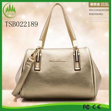 New PU Leather Shoulder Large Messenger Travel Lady Bags Golden Women Handbag