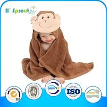 Light Brown Monkey Hood Kids Beach Towels