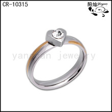 Stainless steel band style young girls finger rings for payment easy