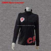 Warm up women plus size clothing custom sports jackets