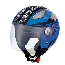 Custom Stylish Half Face Shoei Motorcycle Helmets with strap Chin