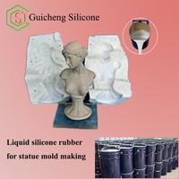 liquid silicone rubber for gypsum mold making, gypsum statues mold making silicone